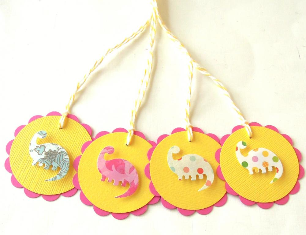 Dinosaur Tags - Set of 4