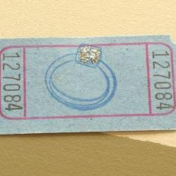 Blue Diamond Ring Raffle Tickets - Set of 12