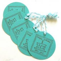 Birthday Cake Tags - Set of 5