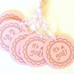 It&#039;s A Girl Tags - Set of 5